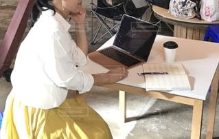 女性,女,パソコン,ノートパソコン,仕事,ビジネス,手帳,job,ワーク,PC,キャリアウーマン,ジョブ,リモートワーク,ビジネスシーン,リモート