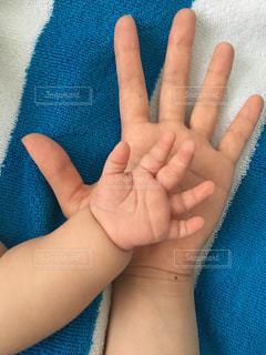 手,赤ちゃん,むちむち,パー,ママと子供