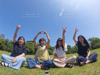 空,公園,LOVE,青空,ジェスチャー
