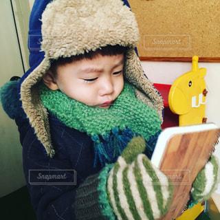 マフラー,帽子,ハンドメイド,手袋,遊び,手作り,男の子,2歳,息子,子育て