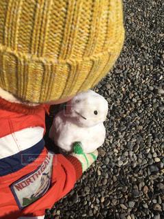 帽子,雪だるま,手袋,遊び,男の子,2歳,息子,ニット,子育て