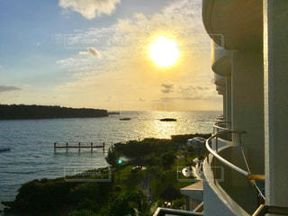 風景,海,夕日,沖縄,旅行,ホテル
