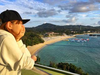 女性,風景,海,沖縄,女子,旅行,ホテル