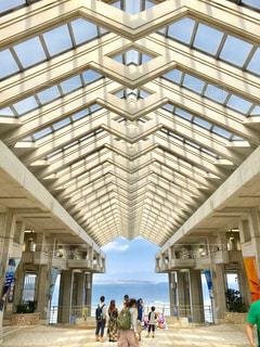 風景,海,建物,沖縄,旅行,美ら海水族館