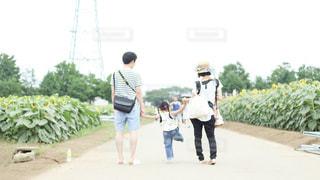 歩道を歩いている人のグループの写真・画像素材[764918]