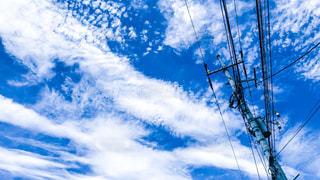 電柱と空の写真・画像素材[1105008]