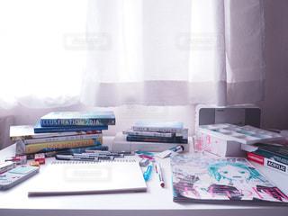 イラスト,絵,部屋,アート,机,朝,デスク,アニメ,美術,女の子の部屋,イラストレーター,アニメーター
