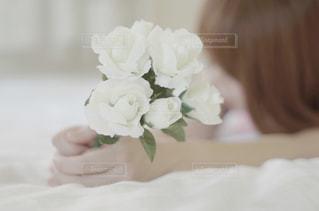 白い花の写真・画像素材[1018407]