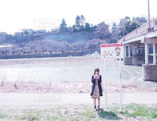 冬の犀川の写真・画像素材[1608122]
