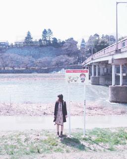 冬の犀川の写真・画像素材[1608168]