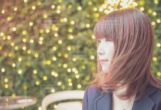 冬のいい髪おでかけの写真・画像素材[1618017]