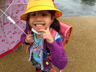 雨,傘,子供,梅雨