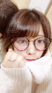 伊達眼鏡の写真・画像素材[1383718]