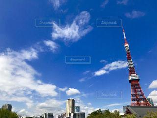 空,秋,東京タワー,雲,青空,秋空