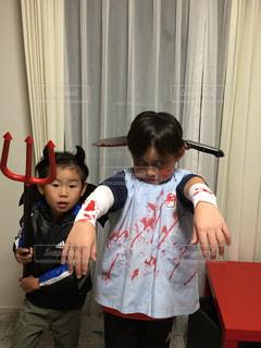 ハロウィン仮装の子供達 - No.841651