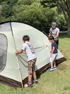 家族でキャンプの写真・画像素材[1622149]