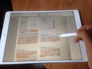 Ipadで勉強中の写真・画像素材[1310515]