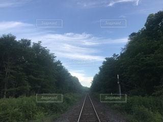空,青空,線路,道,路