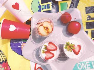 春,ピンク,赤,いちご,デザート,ハート,お花見,りんご