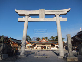 広島護国神社の鳥居の写真・画像素材[1773121]
