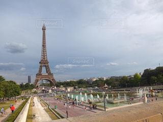 空,海外,青空,ヨーロッパ,景色,外国,旅行,フランス,パリ,エッフェル塔,留学,Paris,海外旅行,ひとり旅,眺め,トロカデロ広場,シャイヨ宮殿