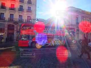 マドリードのバスの写真・画像素材[1880903]