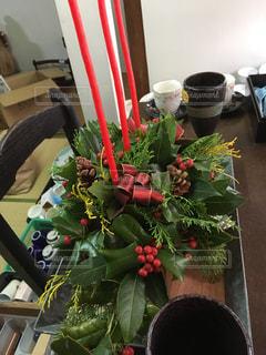 フラワーアレンジメント,クリスマスアレンジメント,生花アレンジメント,赤と緑のアレンジメント