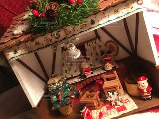 クリスマス,サンタクロース,暖炉,パッチワーク,ドールハウス,小さな我が家,古い小さなお家,空き箱で作る
