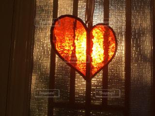 冬至の陽ハートの写真・画像素材[1143374]