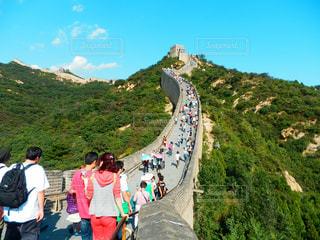 中国の万里の長城の写真・画像素材[787287]