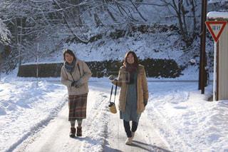 雪,マフラー,田舎,人,手袋,長野,女子旅