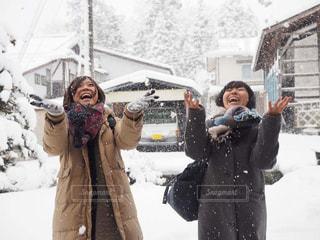 雪,マフラー,田舎,人,旅,手袋,長野,女子旅