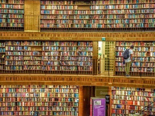 スウェーデンのストックホルム市立図書館の写真・画像素材[3352465]