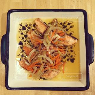 鮭ソテー野菜あんかけの写真・画像素材[771800]