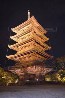 東寺のライトアップの写真・画像素材[841862]