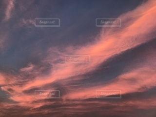 空,雲,夕焼け雲
