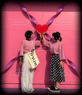 ピンク,ハート,水玉