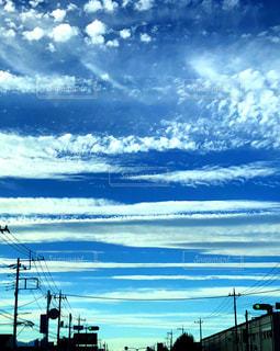 雲,青空,秋晴れ,秋の空,澄み渡る青空,筋雲,秋空♡