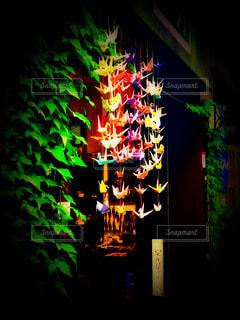 華やかな折り鶴暖簾…の写真・画像素材[2363918]