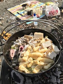 アウトドア,屋外,ダッチオーブン,ちゃんこ鍋,外で鍋