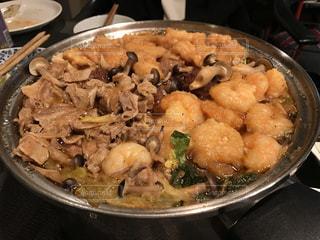 つくね,豚肉,白菜,きのこ,えび,ちゃんこ鍋,ぶち込み