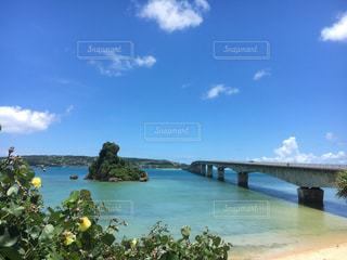 海,橋,島,沖縄,旅行,宇古利大橋
