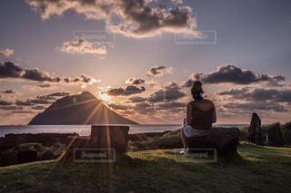 夕陽の写真・画像素材[2129933]