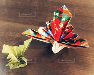 正月用のお祝い用折り鶴の写真・画像素材[3141234]
