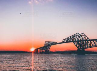 夕暮れの東京ゲートブリッジの写真・画像素材[3394473]