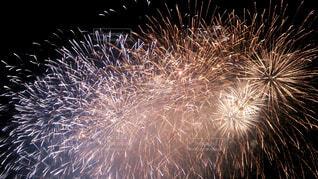 夜空の花火の写真・画像素材[3680216]