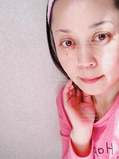 洗顔後の女性の写真・画像素材[1751848]