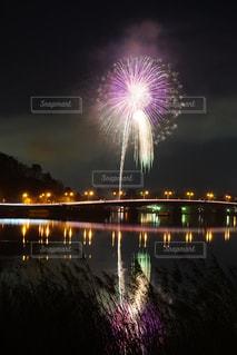 河口湖花火の写真・画像素材[1321189]