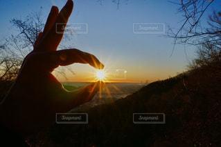 日の出をゲット!の写真・画像素材[2842680]