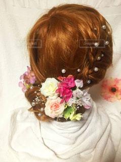 バラと紫陽花のヘッドドレス - No.839983